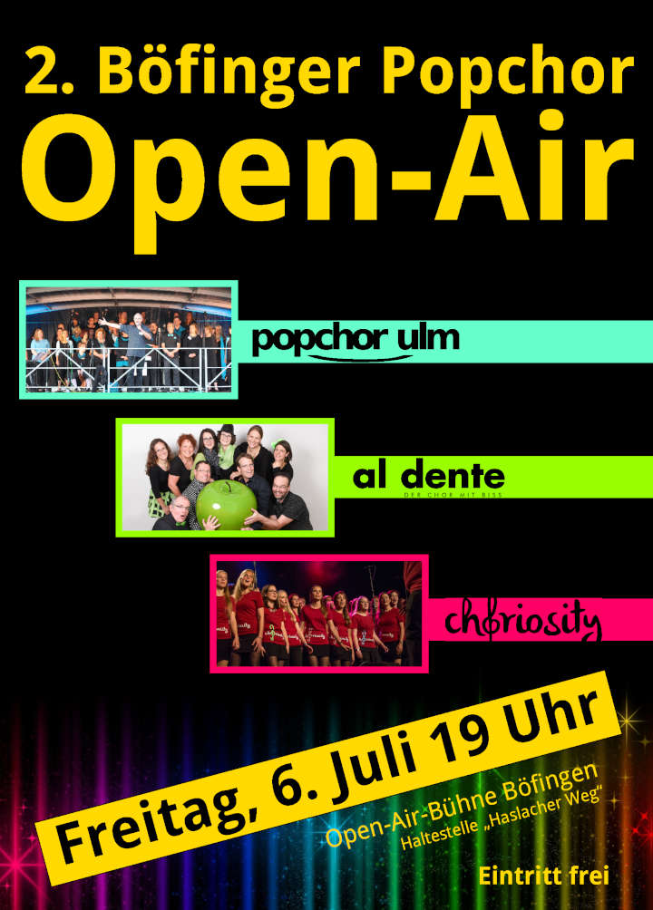 2. Böfinger Popchor-Open-Air